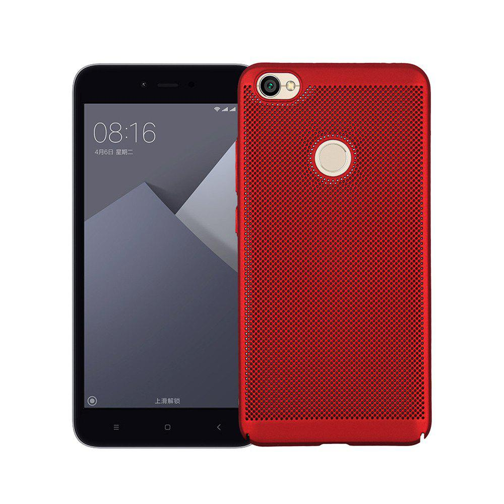 Heat Dissipation Ultra-thin Frosted Back Cover Solid Color Hard PC Case for Redmi Note 5A - RED