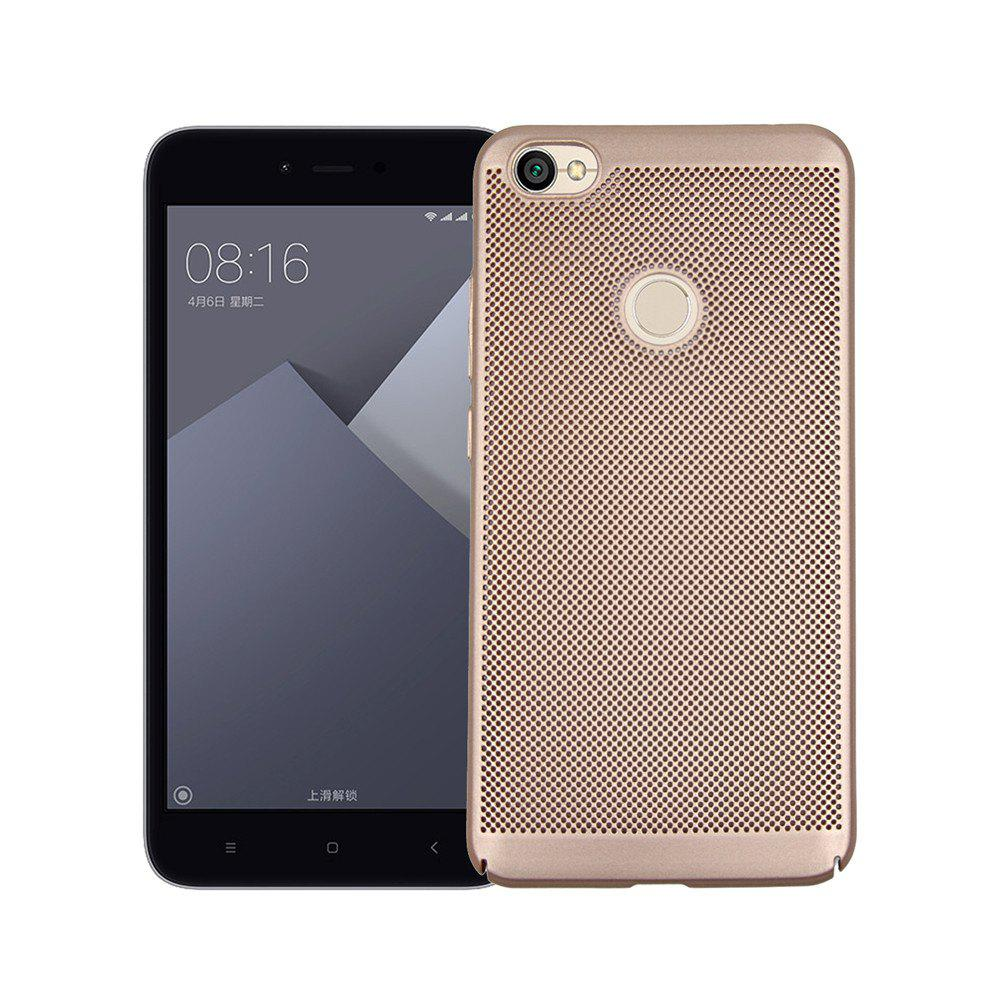 Heat Dissipation Ultra-thin Frosted Back Cover Solid Color Hard PC Case for Redmi Note 5A - GOLDEN