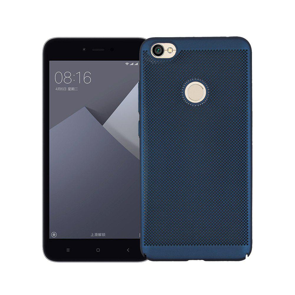 Heat Dissipation Ultra-thin Frosted Back Cover Solid Color Hard PC Case for Redmi Note 5A - CERULEAN