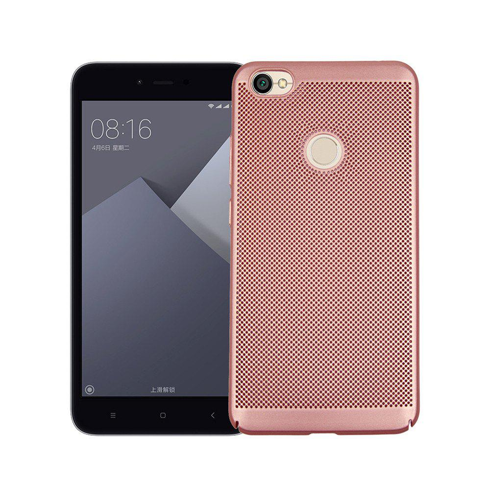 Heat Dissipation Ultra-thin Frosted Back Cover Solid Color Hard PC Case for Redmi Note 5A - ROSE GOLD