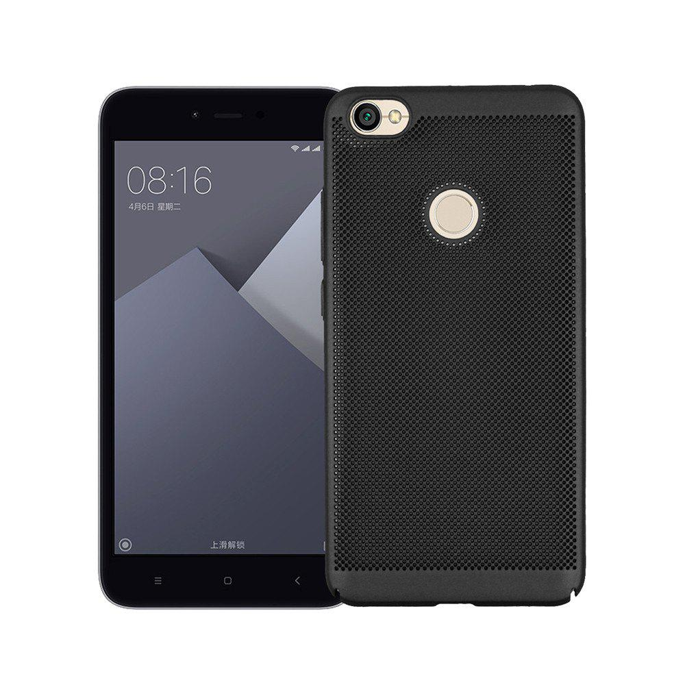 Heat Dissipation Ultra-thin Frosted Back Cover Solid Color Hard PC Case for Redmi Note 5A - BLACK