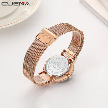CUENA 6645G Women Casual Quartz Watch Stainless Steel Band Wristwatch -  BLACK ROSE GOLD