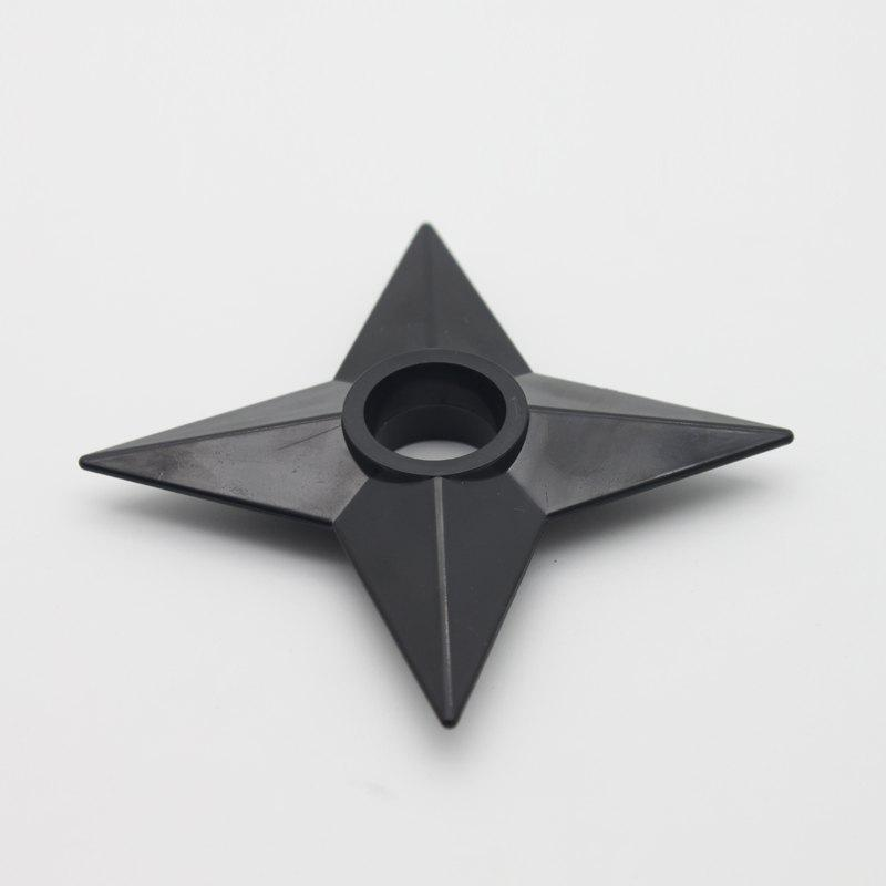 PVC Shuriken Cosplay Props Accessory Collection - BLACK 6.5 CM