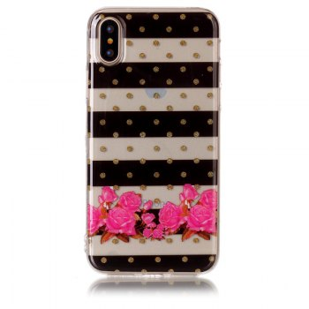 Flower Soft TPU Anti-scratch Back Cover Case for iPhone X - MULTICOLOR multicolorCOLOR