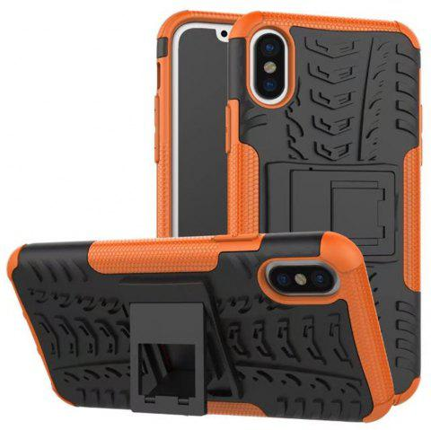 Case for iPhone X Super Cool Back Clip Holder Protection Shell Rugged Cover Smartphone - ORANGE FOR IPHONE X