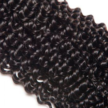 Virgin Brazilian Human Hair Weaves Kinky Curly Extension Natural Black Color 3pcs 8inch-28inch - BLACK BLACK