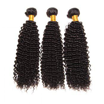 Virgin Brazilian Human Hair Weaves Kinky Curly Extension Natural Black Color 3pcs 8inch-28inch
