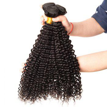 Virgin Brazilian Human Hair Weaves Kinky Curly Extension Natural Black Color 3pcs 8inch-28inch - BLACK 20INCH*22INCH*24INCH