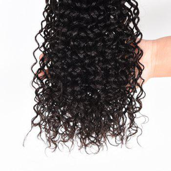 Virgin Brazilian Human Hair Weaves Kinky Curly Extension Natural Black Color 3pcs 8inch-28inch - BLACK 22INCH*24INCH*24INCH