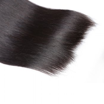 Inidan Unprocessed Virgin Straight Human Hair Weave High Quality Bundle 1piece 8 inch - 28 inch - BLACK 28INCH