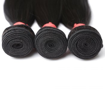 Inidan Unprocessed Virgin Straight Human Hair Weave High Quality Bundle 1piece 8 inch - 28 inch - BLACK 22INCH