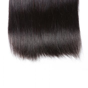 Inidan Unprocessed Virgin Straight Human Hair Weave High Quality Bundle 1piece 8 inch - 28 inch - BLACK BLACK