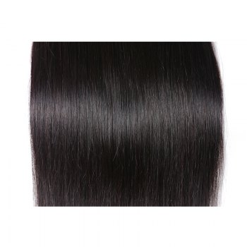Inidan Unprocessed Virgin Straight Human Hair Weave High Quality Bundle 1piece 8 inch - 28 inch - BLACK 10INCH