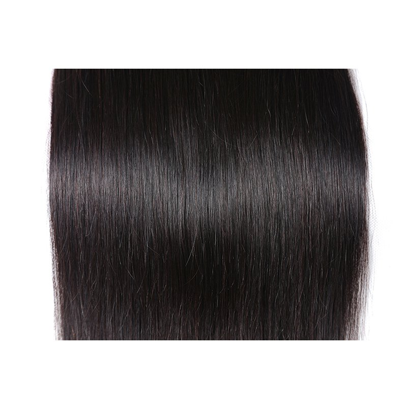 Inidan Unprocessed Virgin Straight Human Hair Weave High Quality Bundle 1piece 8 inch - 28 inch - BLACK 14INCH
