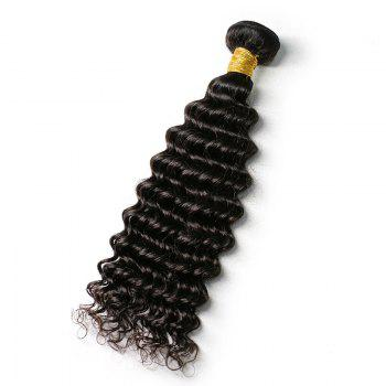 Mongolian Deep Wave Unprocessed Virgin Human Hair Weaves 10inch - 28inch 1piece /  100g - BLACK 28INCH