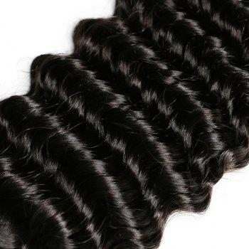 Mongolian Deep Wave Unprocessed Virgin Human Hair Weaves 10inch - 28inch 1piece /  100g - BLACK 24INCH