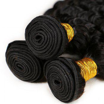 Mongolian Deep Wave Unprocessed Virgin Human Hair Weaves 10inch - 28inch 1piece /  100g - BLACK 12INCH