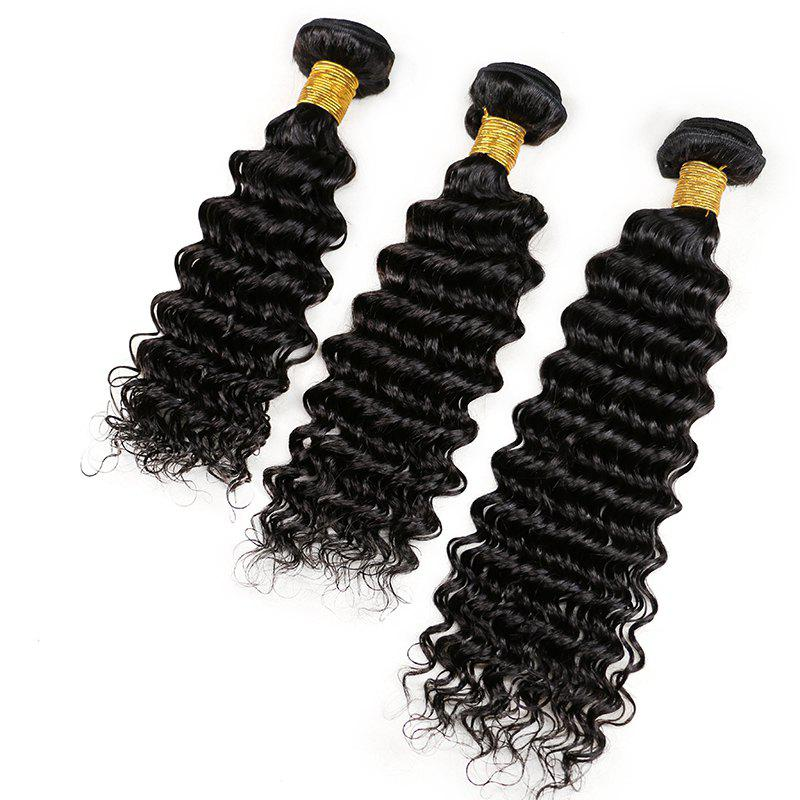 Mongolian Deep Wave Unprocessed Virgin Human Hair Weaves 10inch - 28inch 1piece /  100g - BLACK 18INCH