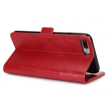 Crazy Ma  Wallet Phone Sets Stent for iPhone 7 Plus -  RED