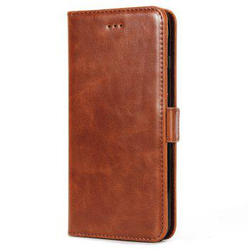 Crazy Ma  Wallet Phone Sets Stent for iPhone 7 Plus - BROWN BROWN