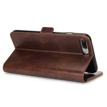 Crazy Ma  Wallet Phone Sets Stent for iPhone 7 Plus - SANDY BEIGE