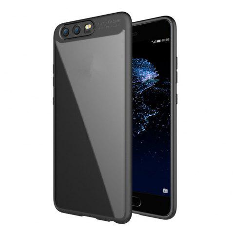 Luxury TPU + Acrylic Transparent Back Cover For Huawei P10 - BLACK