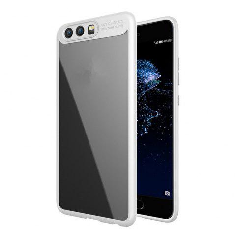 Luxury TPU + Acrylic Transparent Back Cover For Huawei P10 - WHITE