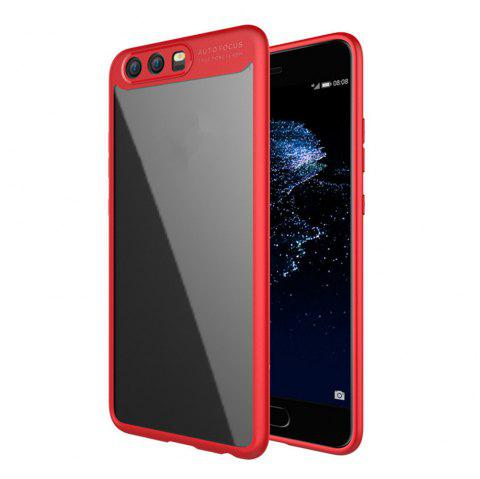 Luxury TPU + Acrylic Transparent Back Cover For Huawei P10 - RED
