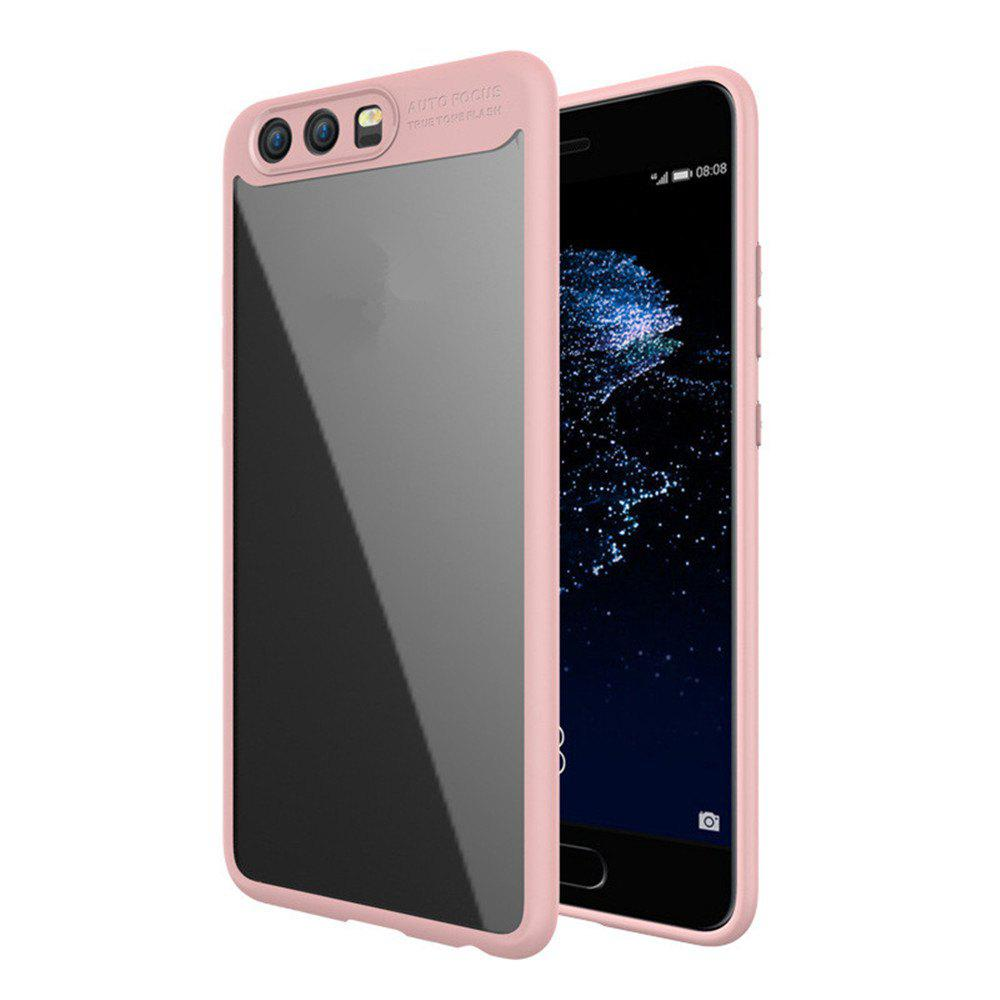 Luxury TPU + Acrylic Transparent Back Cover For Huawei P10 - PINK