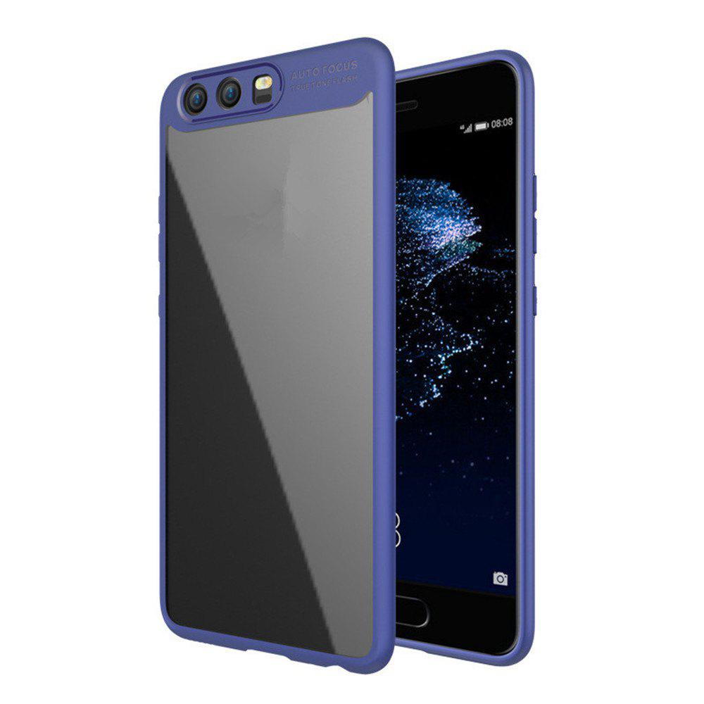 Luxury TPU + Acrylic Transparent Back Cover For Huawei P10 - BLUE