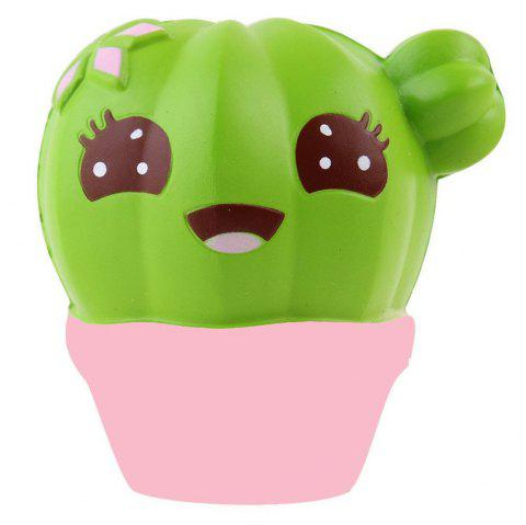 Squishy Cactus Scented Jumbo Slow Rising Relief Toy - COLORMIX