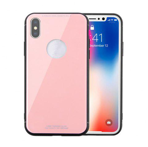 Tempered Glass Back Phone Case For iPhone X - GOLDEN