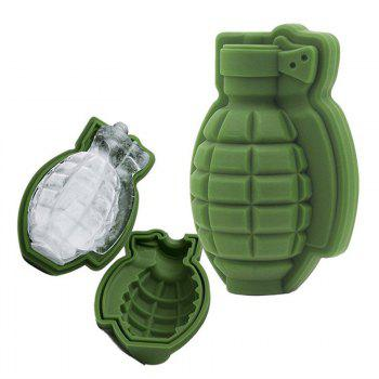 Grenade Shape Ice Tray Silicone Mold - GREEN GREEN