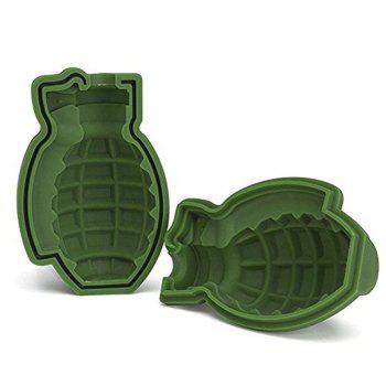 Grenade Shape Ice Tray Silicone Mold -  GREEN