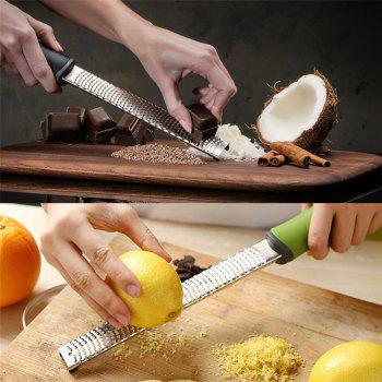 Stainless Steel Multifunctional Chocolate Cheese Planer Shavings with Lemon Ginger Shingle Brush -  BLACK