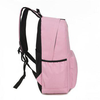 Light Burden Bag Cartoon Cute Boys and Girls Pattern Backpack - PINK