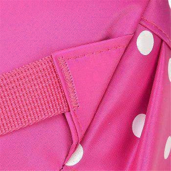 Striped Casual Shoulder Bag Wave Point Pattern Backpack - PINK