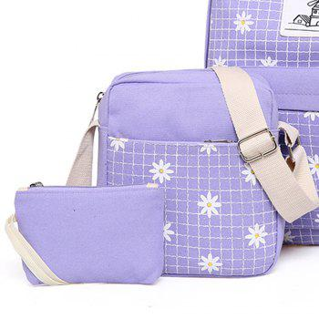 Small Chrysanthemum Backpack Waterproof Bag - LIGHT PURPLE