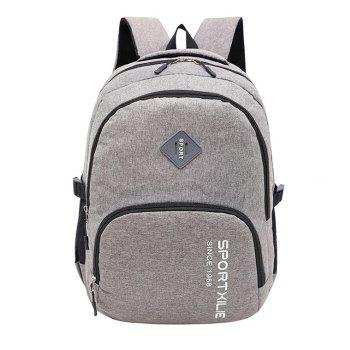 GANJOY Casual College Wind Canvas Light Travel Leisure Bag - GRAY GRAY