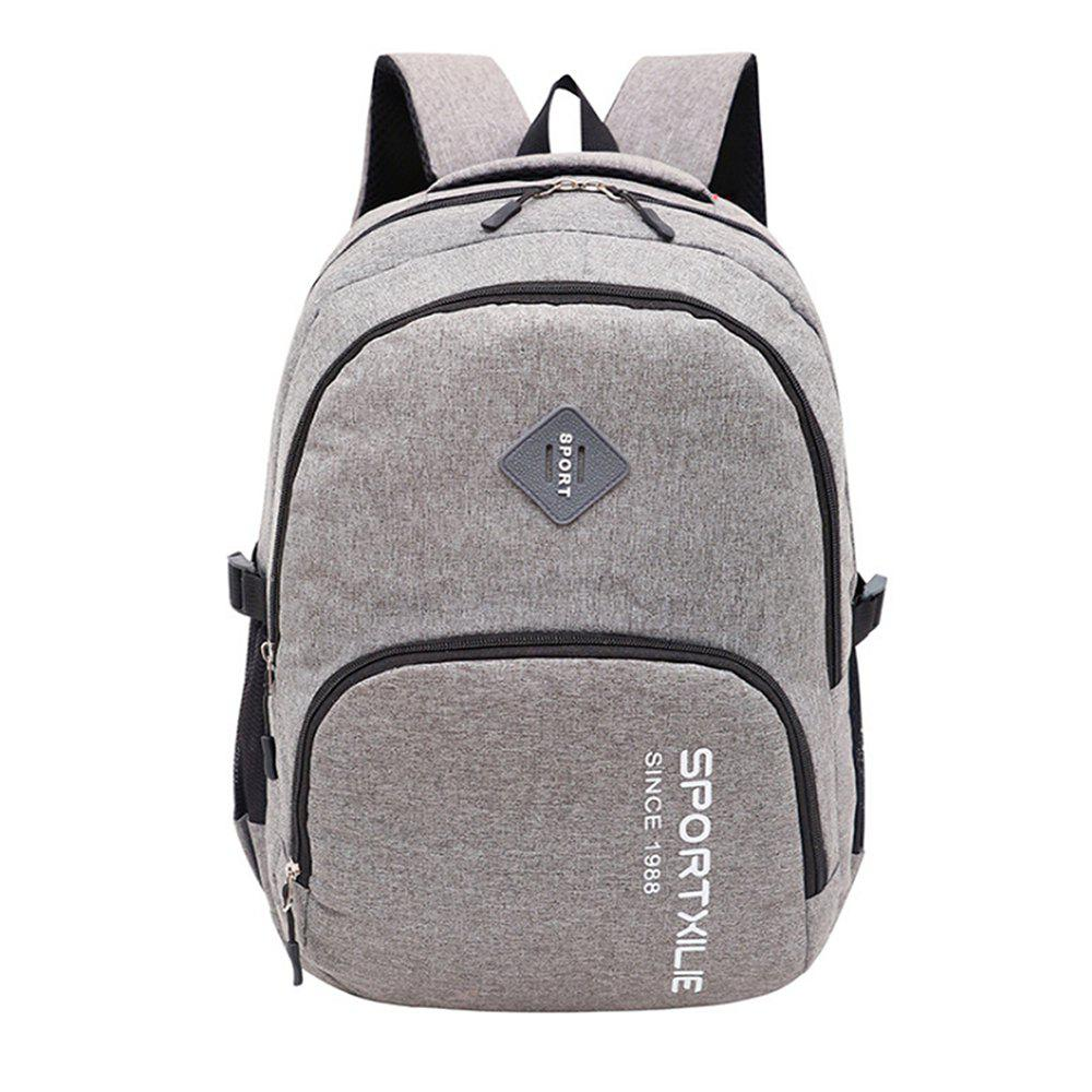 GANJOY Casual College Wind Canvas Light Travel Leisure Bag - GRAY