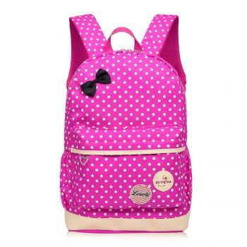 0323 Casual Fresh Backpack Summer Bag 3PCS - ROSE RED