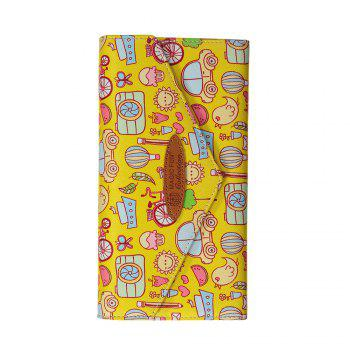 Cartoon Hand-painted Leather Wallet - YELLOW YELLOW