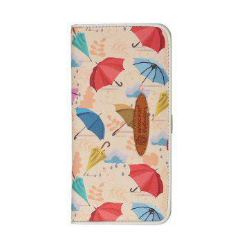 Cartoon Hand-painted Colorful Leather Wallet - APRICOT APRICOT