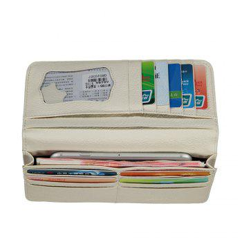 Cartoon Hand-painted Colorful Leather Wallet -  APRICOT