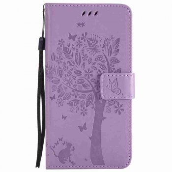 Embossed Cat and Tree PU TPU Phone Case for HUAWEI  Mate 10 - RADIANT RADIANT