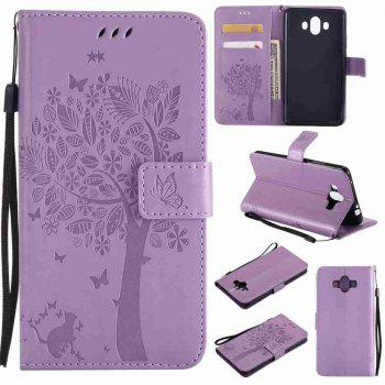 Embossed Cat and Tree PU TPU Phone Case for HUAWEI  Mate 10 -  RADIANT