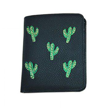 Fashion Embroidery Card Package Luxury Design Ladies Purse - BLACK BLACK