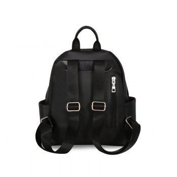 New Luxury Design Backpack Fashion All Match Lady Shoulder Bag - BLACK