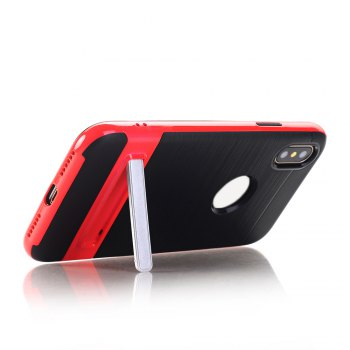 PC + TPU Protective Case with Stand for iphone X - RED