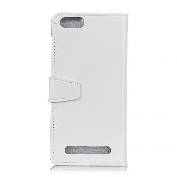 KaZiNe Luxury PU Leather Silicon Magnetic Dirt Resistant Phone Bags Cases for DOOGEE X30 -  WHITE
